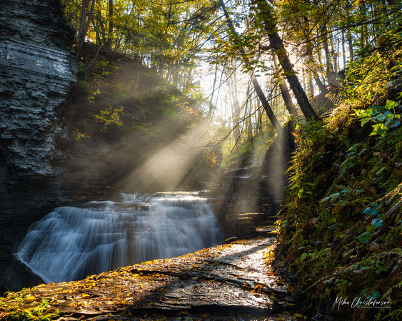 MLCreations Photography: Buttermilk Falls &emdash; Shine Through