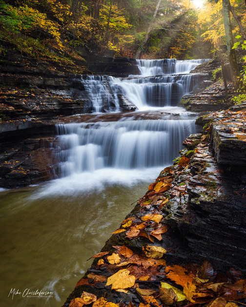 MLCreations Photography: Buttermilk Falls &emdash; Autumn Light