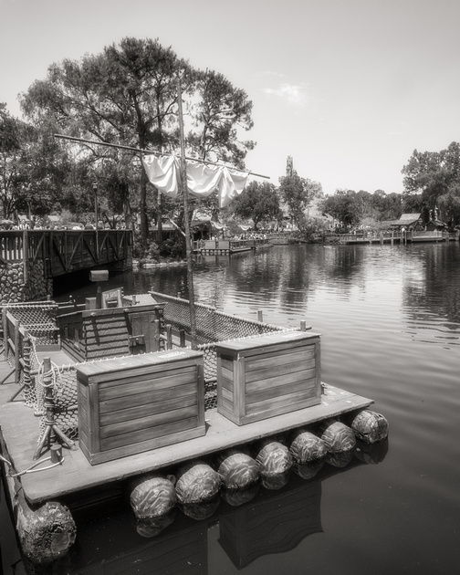 MLCreations Photography: WDW in B&W &emdash; Tom Sawyer in Frontierland