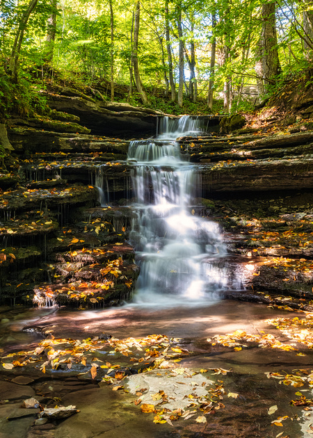MLCreations Photography: Pixley Falls &emdash; Summer Leaves