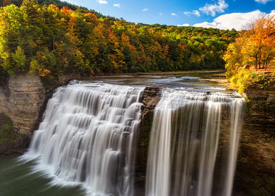 MLCreations Photography: Letchworth &emdash; Middle Falls Shine