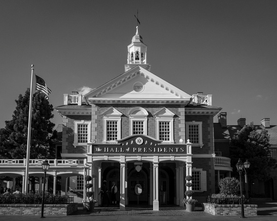 MLCreations Photography: WDW in B&W &emdash; The Hall of Presidents